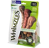 Whimzees Paragon Toothbrush Star Dental Treat for X-Small Dogs, 49 Per Bag