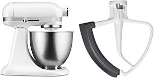 KitchenAid Artisan Mini Stand Mixer, 3.5 quart, Matte White with Flex Edge Beater