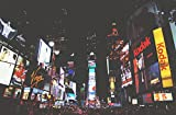 LAMINATED 36x24 POSTER: Times Square New York Broadway New York City City Town Night Neon Ads Advertising Crowded