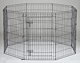 36'' Homey Pet Folding LCk 3ft Pet Playpen with Door, Black