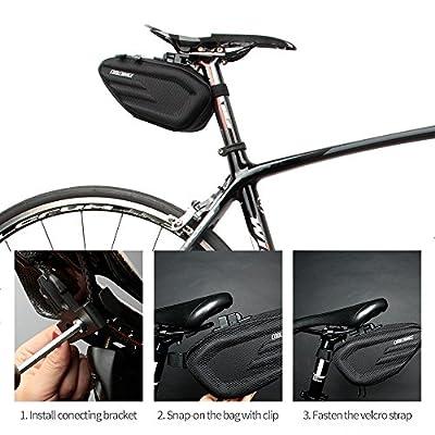 Cool Change Bike Saddle Bag Fully Waterproof   2L Large Capacity   Tough EVA 3D Shell   Buckle Install Cycling Bag