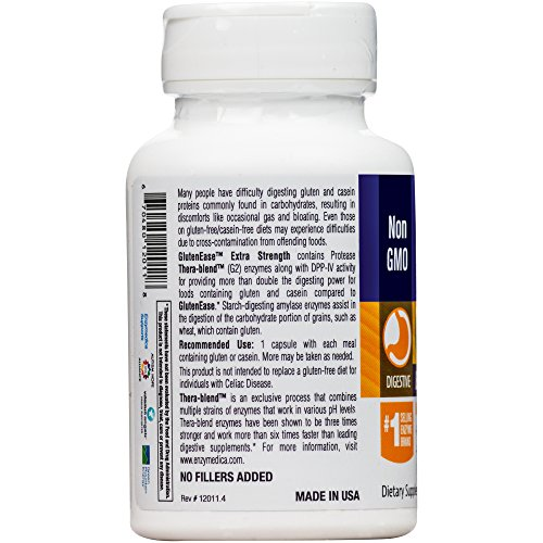 Enzymedica - GlutenEase Extra Strength, Complete Gluten & Casein Formula with Digestive Enzymes + DPP-IV, 60 Capsules (FFP) by Enzymedica (Image #6)