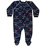 National Football League Houston Texans Baby footsie Sleeper w Zipper and Nonslip Feet (6-9 Month)