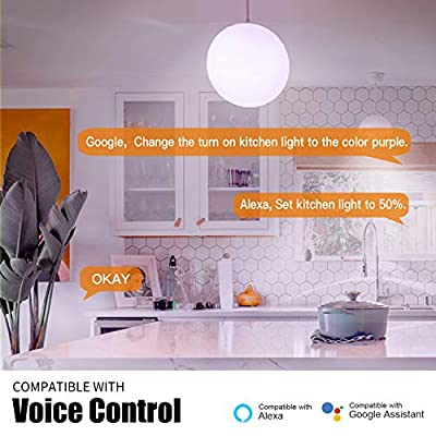 Svipear LED Smart 7W Multicolor Lights Bulb,60W Equivalent,e27 a19,RGBCW WiFi Bulb,Compatible with Alexa and Google Assistant and IFTTT,No Hub Required