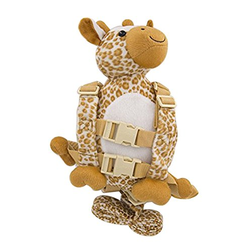 Giraffe Monkey - Berhapy 2 in 1 Monkey Toddler Safety Harness Backpack Children's Walking Leash Strap (giraffe)