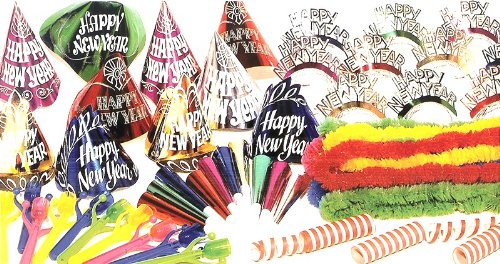 Foil Happy New Year Streamer - Decorating Party Kit for 20, New Years Eve