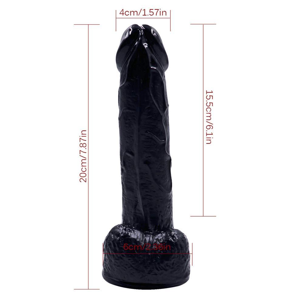 Consoladores Realistas De Con Ventosa Base De Realistas Manos Libres Juego De Silicona Flexible De Pene De Juguete Femenino Masturbación,Black 24beb7