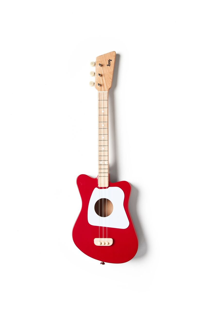Loog Mini Acoustic Guitar for Children and Beginners, (Red) by Loog