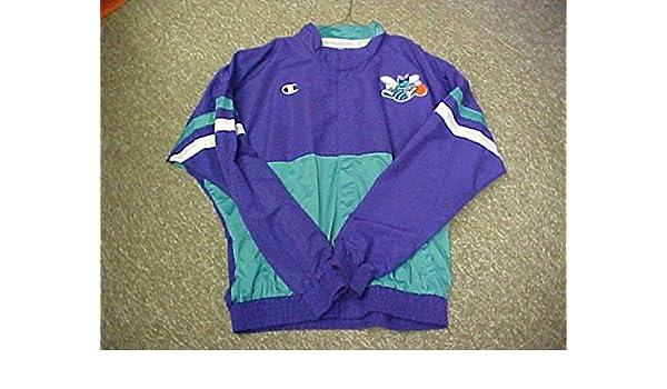 the best attitude 6b354 dc194 Anthony Mason Charlotte Hornets Game Worn Jacket at Amazon's ...