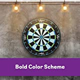 Viper Chroma Tournament Bristle Steel Tip Dartboard Set with Staple-Free Bullseye, Metal Triangular Spider Wire for Reduced Bounce Outs, Increased Scoring, High-Grade Self-Healing Premium Sisal Board