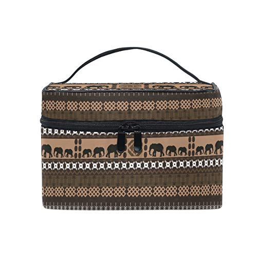 Africa Classical Elephant Makeup Bag for Women Cosmetic Bag Toiletry Train Case by Sawhoon
