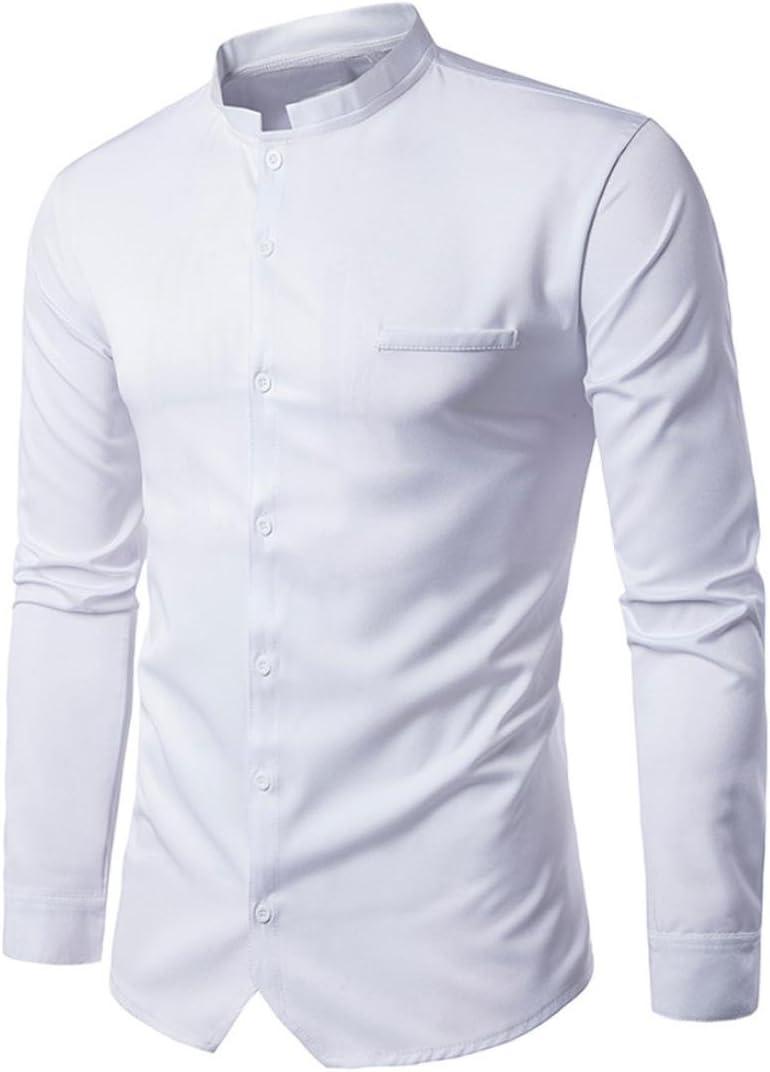 Camisas hombre Camisas casuales hombre botón invierno defensa frío,YanHoo® impresa Slim Fit manga larga informal botón camisas formales blusa Moda popular (Blanco, 2XL): Amazon.es: Iluminación