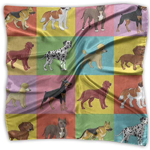 Square Scarf Dog Puppy Chihuahua Dachshund Scarves Unisex Neckerchief Tie For Men