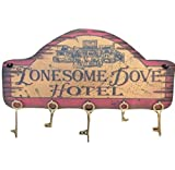 Cowboy Signs Wood Wall Hanging Lonesome Dove Hotel Antique Red 8096
