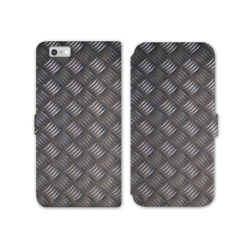 RV Leather Flip Case iPhone 6 / 6s Texture - INOX B