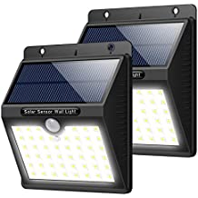 Solar Lights Outdoor [46 LEDs], Yacikos Solar Powered Motion Sensor Lights Waterproof Security Wireless Wall Lights for Outdoor, Garden, Patio Yard, Deck Garage, Fence, Driveway Porch (2 Pack)
