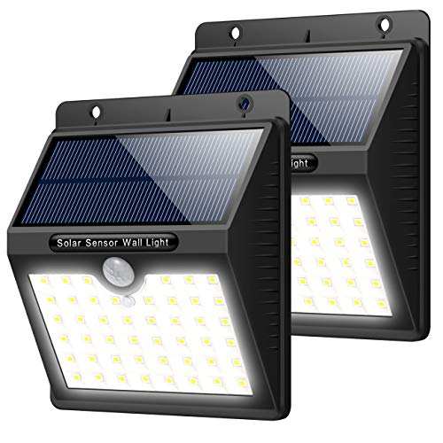 Solar Lights Outdoor [46 LEDs], Yacikos Solar Powered Motion Sensor Lights Waterproof Security Wireless Wall Lights for Outdoor, Garden, Patio Yard, Deck Garage, Fence, Driveway Porch (2 Pack)