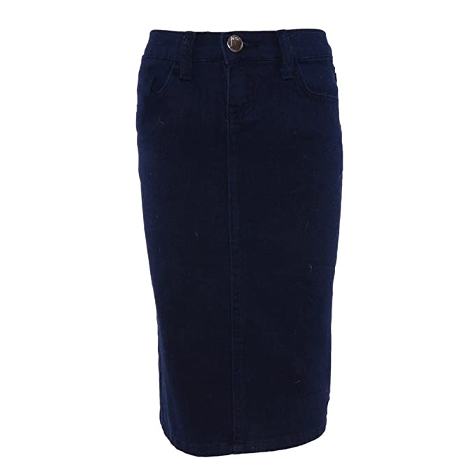 4e87f4794f Pinc Premium Big Girls' Twill Pencil Skirt 8 Navy: Amazon.ca ...