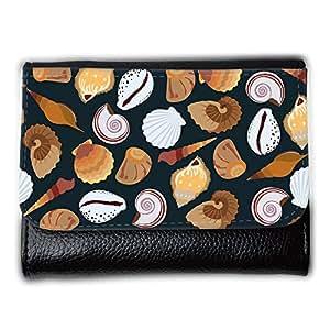 le portefeuille de grands luxe femmes avec beaucoup de compartiments // V00002034 patrón de conchas marinas // Medium Size Wallet