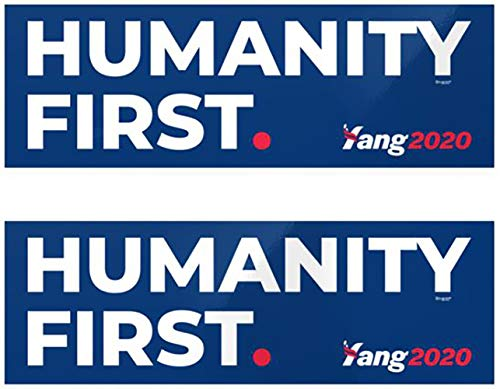 (Andrew Yang Humanity First Official Bumper Sticker Combo Pack)