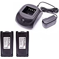 Maxtop C2B1C0004 Battery Charger Bundle Package with 2 PCS 2000 mAH BH1801 Battery for Hytera