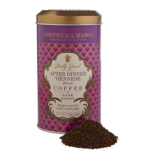 Fortnum and Mason. After Dinner Viennese Blend Coffee 250g 8.8oz Gift Tin Caddy (1 Pack) Seller Product Id FM09 - USA Stock