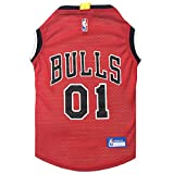 NBA CHICAGO BULLS DOG Jersey, Medium - Tank Top Basketball Pet Jersey