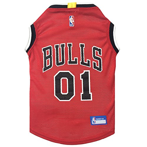 NBA CHICAGO BULLS DOG Jersey, Small - Tank Top Basketball Pet Jersey Chicago Bulls Basketball Jersey
