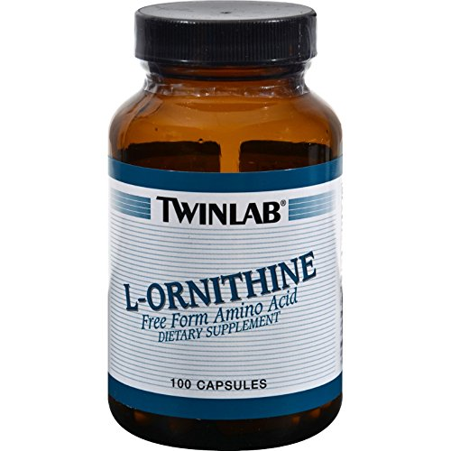 Twinlab L-Ornithine - 500 mg - 100 Capsules (Pack of 4)