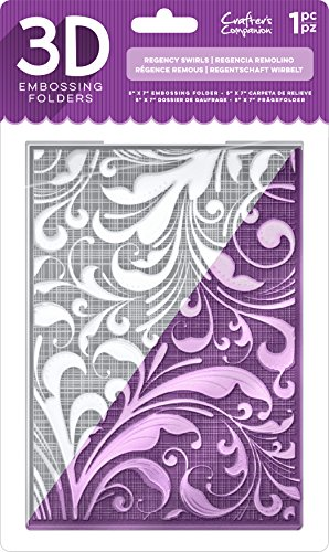 Die'Sire EF5-3D-REGSW 3D Embossing Folder, Clear by Die'Sire