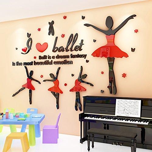 ZRDMN Etiqueta de la Pared Escuela de Danza Ballet 3D Fondo ...