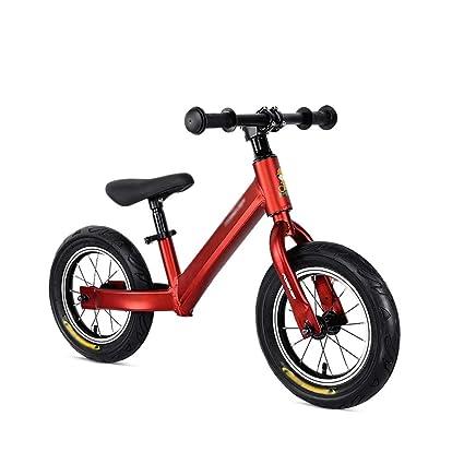 Bicicletas sin pedales Bicicleta de Equilibrio Rojo para niños, Marco de aleación de Aluminio de