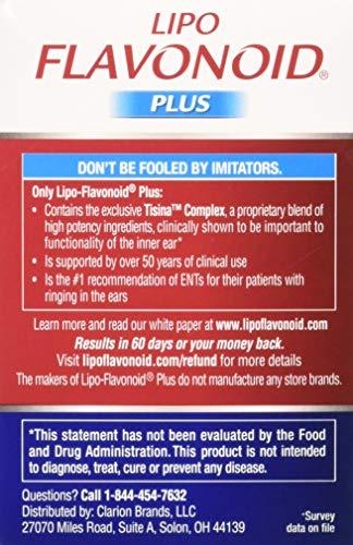 Lipo-Flavonoid Plus Unique Ear Health Caplets, 2 Count by Lipo-Flavonoid (Image #3)