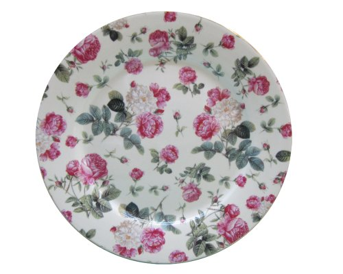 Gracie China Rose Chintz Porcelain 8-Inch Dessert Plate Set of 4, Assorted Four Designs by Gracie China by Coastline Imports (Image #4)