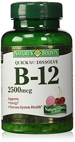 (Nature's Bounty Quick Dissolve B-12 2500mcg Cherry Flavor: 250 Quick Dissolve Tablets - Cos17)