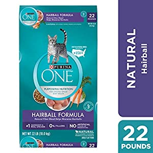 Purina ONE Hairball, Natural Dry Cat Food; Hairball Formula - 22 lb. Bag 104