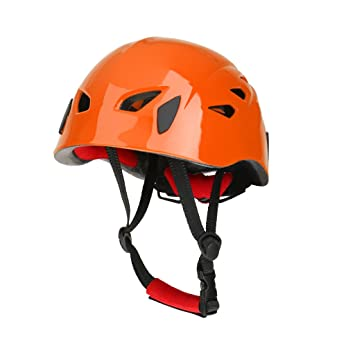 Sharplace Cascos de Seguridad de Escalada Kayak Rapel Protector de Rescate de Color Naranja Casco de