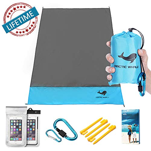 (Beach Mat Sand Free Folding Outdoor Beach Blanket Portable Adults Cover Waterproof Extra Large 79