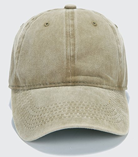 check out aaf36 2542a ... Edoneery Adjustable Washed Twill Low Profile Cotton Baseball Cap Hat( Khaki) ...