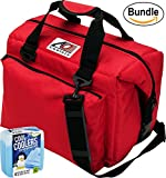 ao cooler vinyl - AO Coolers Canvas Series Soft Cooler with High-Density Insulation, Size 24-Can, 30 Qt. - #AO24RD - Red & Fit & Fresh Cool Coolers Slim Ice 4-Pack (Bundle)