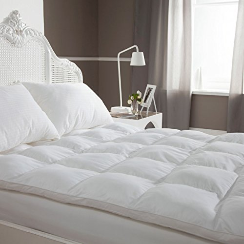 Cheer Collection Super Soft Down Alternative Hypoallergenic Mattress Topper - King (Bed Padding Queen)