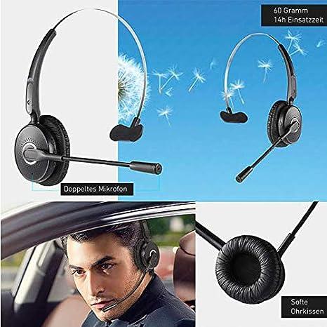 Bluetooth Headset mit Mikrofon für Handy  Amazon.de  Elektronik e96c9f8c6b