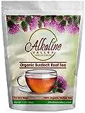 Burdock Root Tea Organic – 100% Alkaline – 15 Unbleached/Chemical-Free Burdock Root Tea Bags – Caffeine-Free, No GMO