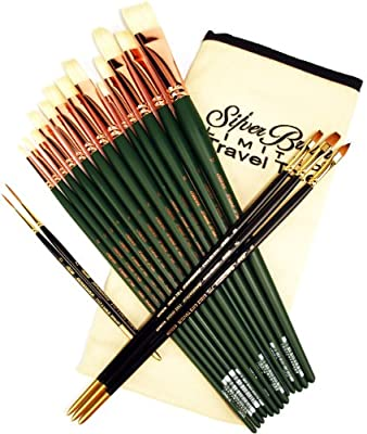 Silver Brush BT-419 Burton Silverman Figure Painting Master Brush Set, 18 Per Pack