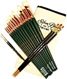 Silver Brush BT-419 Burton Silverman Figure Painting Master Brush Set, 18 Per Pack