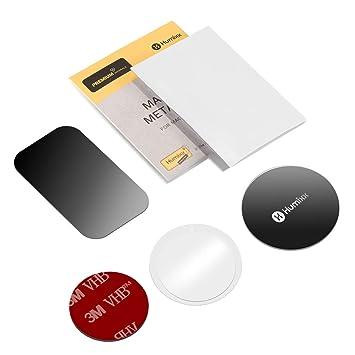 humixx Láminas Metálicas Placa de Metal para Imanes para Soporte Movil Coche Magnético Reemplazo con Ventilación
