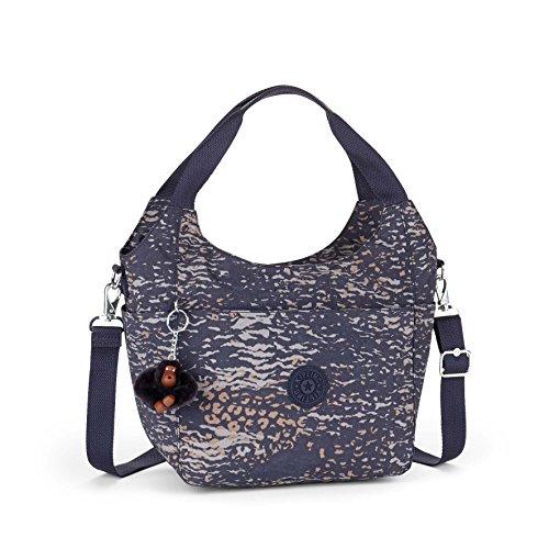Kipling Carola blue purple shoulder bag with belt multicolor multicolor