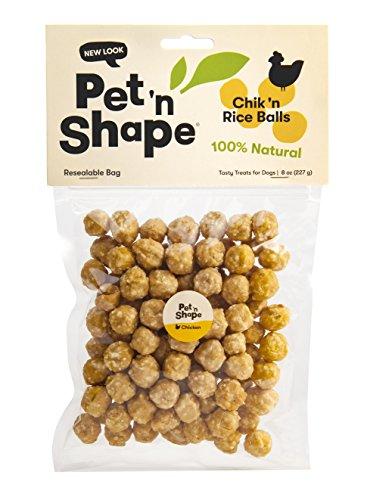 - Pet 'n Shape Chik 'n Rice Balls Natural Dog Treats, 8-Ounce