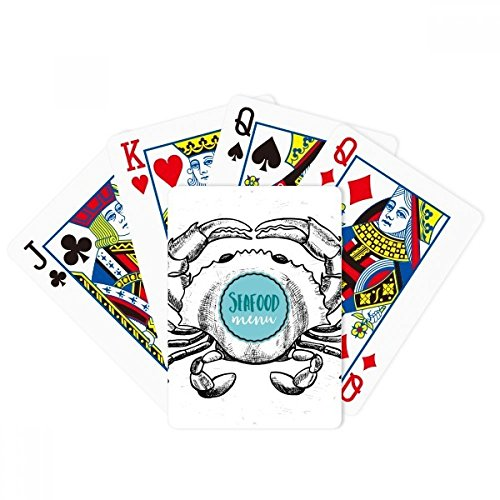 Crab Sketch Marine Organism Illustration Poker Playing Card Tabletop Board Game Gift by beatChong