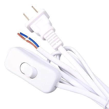 Phenomenal Bcqli Lamp Cord Has Button Switch Plug Stripped Ends Ready For Wiring Cloud Intapioscosaoduqqnet